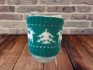 Christmas knitted deer cup cover,Knitted sweater cup one to choose from
