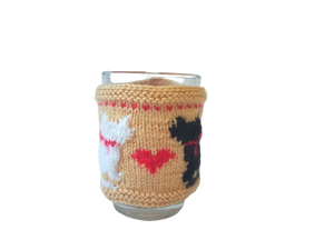 Cat sweater for cup, Knitted cup sweater one to choose