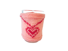 Load image into Gallery viewer, Knitted sweater for cups for Valentine's Day, cover for cup, cover for heating cup