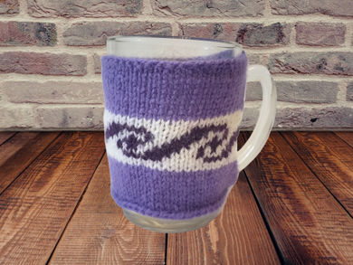 Handmade knitted sweater cup warmer