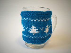 Christmas knitted sweater cup warmer Handmade Christmas trees