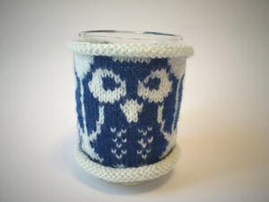 Copy of Knitted cup sweater Owl, cup cover