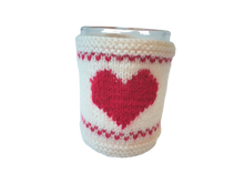 Load image into Gallery viewer, Warm knitted sweater with heart, gift for your favorite blouse on cup, Valentine's Day gift