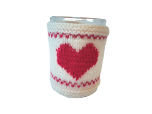 Warm knitted sweater with heart, gift for your favorite blouse on cup, Valentine's Day gift