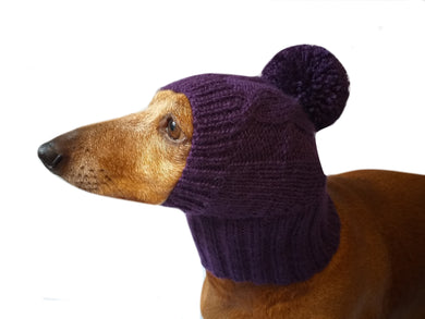 Warm hat for dog or cat, hat for a dog, hat for small dog, hat for dachshund, knitted hat, warm ears of dog