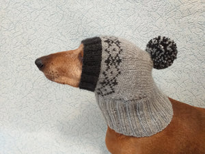 Warm hat for dog or cat, hat for dog, hat for small dog, hat for dachshund.