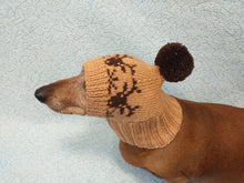 Load image into Gallery viewer, Christmas hat with deer for dog with pompom