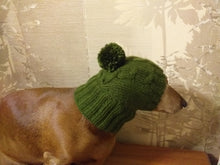 Load image into Gallery viewer, Winter knitted hat for small dog,hat for dogs, pet clothes, winter hat for dog, handmade hat, hat for dachshund, knitted hat, gift hat