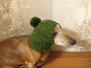 Winter knitted hat for small dog,hat for dogs, pet clothes, winter hat for dog, handmade hat, hat for dachshund, knitted hat, gift hat