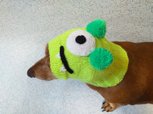 Load image into Gallery viewer, Halloween one-eyed monster hat dog,Monster hat for dachshund, monster hat for a small dog