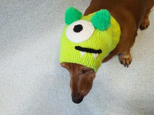 Halloween one-eyed monster hat dog,Monster hat for dachshund, monster hat for a small dog