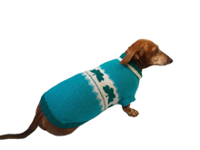 Load image into Gallery viewer, Dachshund clover clothing St. Patrick's Day, dog clover sweater