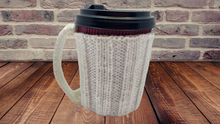 Load image into Gallery viewer, Handmade mug cover, knitted sleeve for coffee