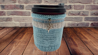 Knitted sleeve for handmade coffee