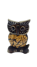 Load image into Gallery viewer, Owl handmade wooden figurine, owl figurine