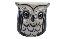 Owl decorative wooden figurine