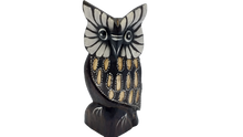 Load image into Gallery viewer, Owl wooden handmade figurine, owl, statuette owl, owl of wood