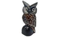 Load image into Gallery viewer, Handmade wooden figurine decor owl