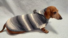 Load image into Gallery viewer, Sweater with hood for dachshund or small dog, sweatshirt knitted for dog