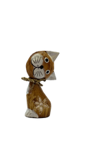Load image into Gallery viewer, Handmade wooden cat figurine