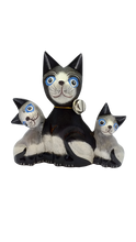 Load image into Gallery viewer, Family of cats made of wood handmade figurine