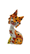 Load image into Gallery viewer, Wooden cat handmade figurine