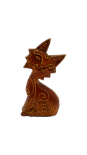 Load image into Gallery viewer, Handmade wooden figurine cat