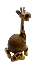 Load image into Gallery viewer, Wooden giraffe piggy bank