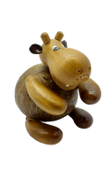 Load image into Gallery viewer, Wooden piggy bank figurine hippopotamus