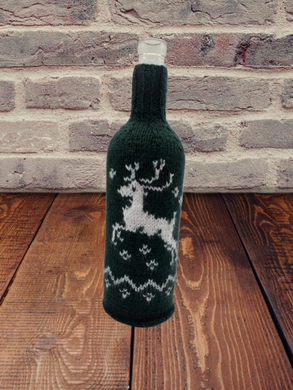 Christmas bottle cover, Christmas bottle decoration, Christmas present, New Year gift, Christmas table, Bottle decoration