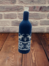 Load image into Gallery viewer, Christmas bottle cover, Christmas bottle decoration,Decor Bottle, Wine Accessories, Knitted bottle,Wine Decor Crochet Bottle Bottle Sweater