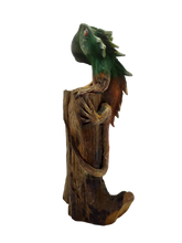 Load image into Gallery viewer, Handmade wooden lizard figurine