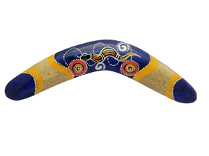 Wooden decorative boomerang