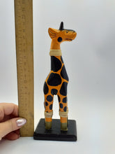 Load image into Gallery viewer, Wooden giraffe figurine