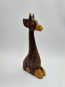 Giraffe decorative wooden figurine