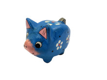 Load image into Gallery viewer, Wooden pig figurine