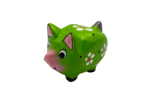Wooden pig figurine