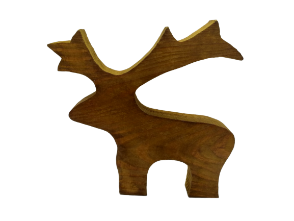 Christmas wooden deer decor