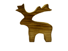 Load image into Gallery viewer, Christmas wooden deer decor