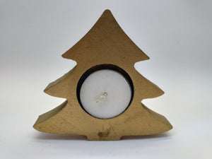Christmas candlestick wooden tree