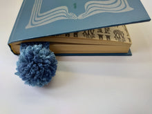 Load image into Gallery viewer, Knitted bookmark for book with pompom