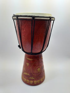 Decorative bamboo drum