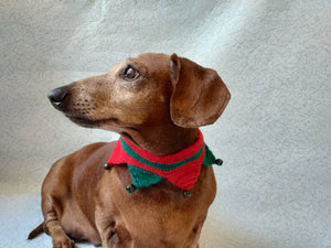 Christmas dog or cat collar