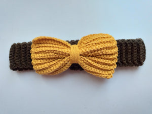 Knitted collar bow for dog cat