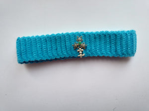 Handmade knitted dog collar