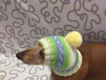 Load image into Gallery viewer, Warm winter hat with pompom for small dog