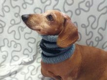 Load image into Gallery viewer, Knitted dog snood handmade stripes, scarf snood hat for dogs