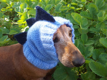 Load image into Gallery viewer, Dragon Dinosaur Dog Hat Hood Snood Scarf, Snood hat for dog dinosaur