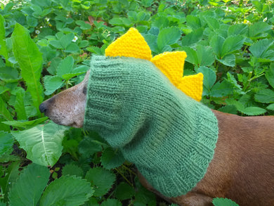 Dragon Dinosaur Dog Hat Hood Snood Scarf, Snood hat for dog dinosaur