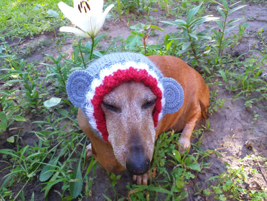 Dog monkey hat snood, dog clothes hat snood monkey